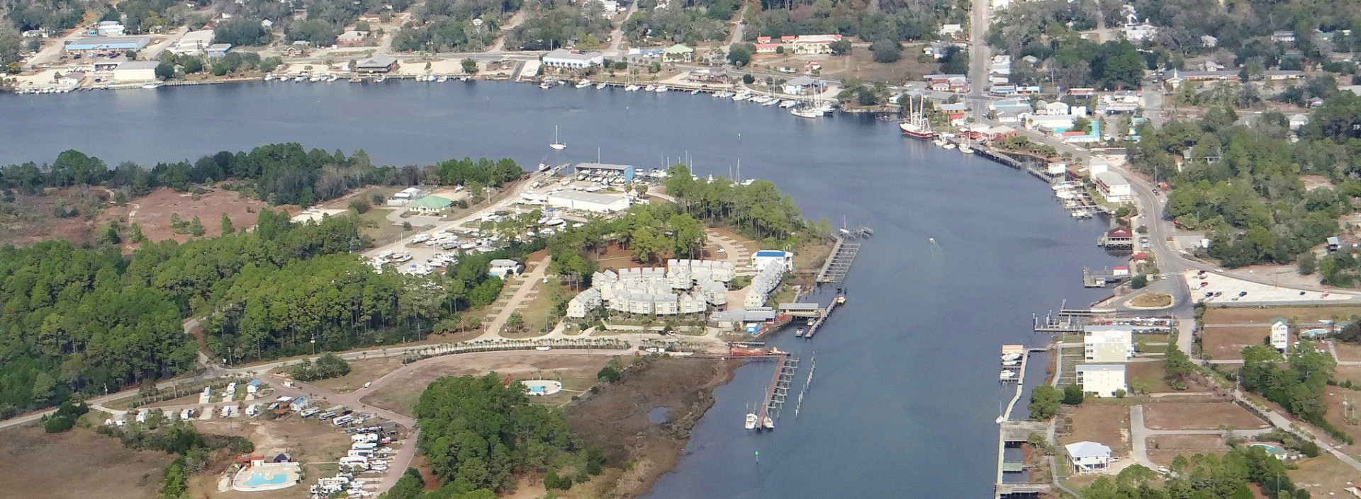 Aerial View of Carrabelle