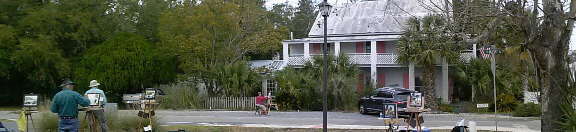 Artist Painting The Old Carrabelle Hotel