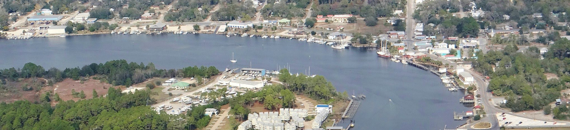 Carrabelle Flordia Aerial View