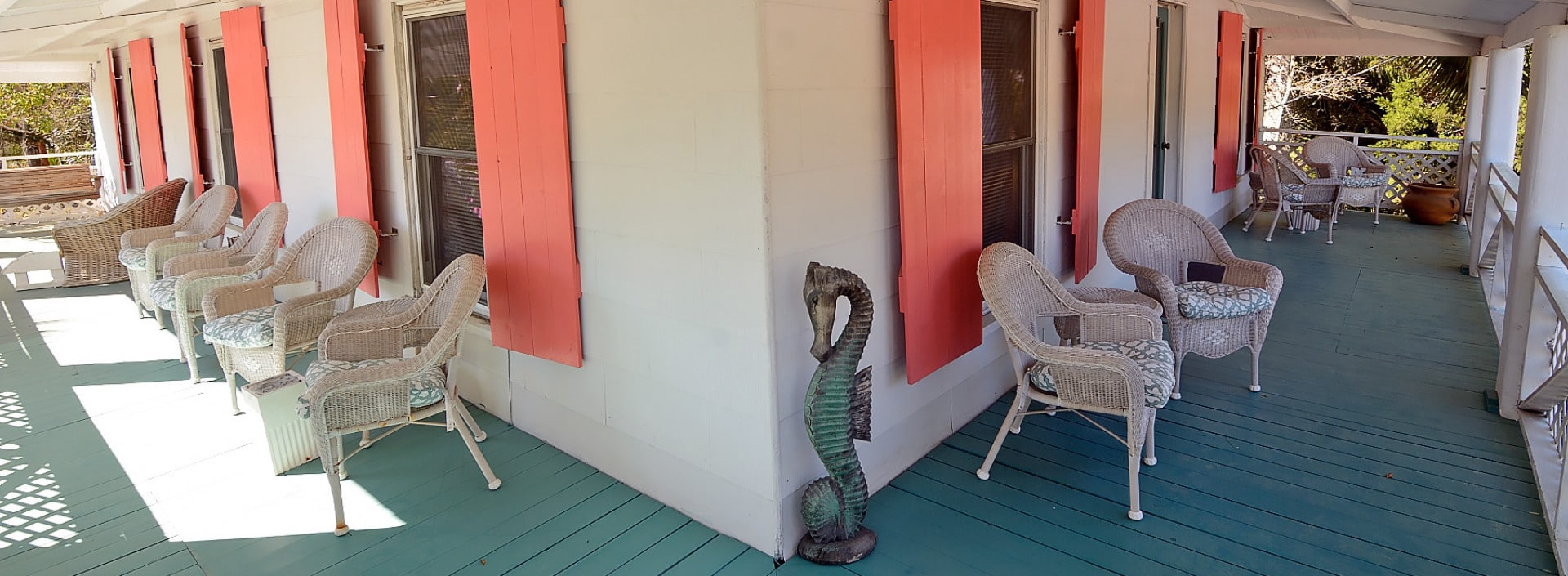 Porch of Old Carrabelle Hotel