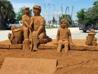 Sand sculpture done at Riverfront Festival 2004