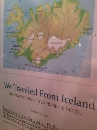 A memento from Iceland guests